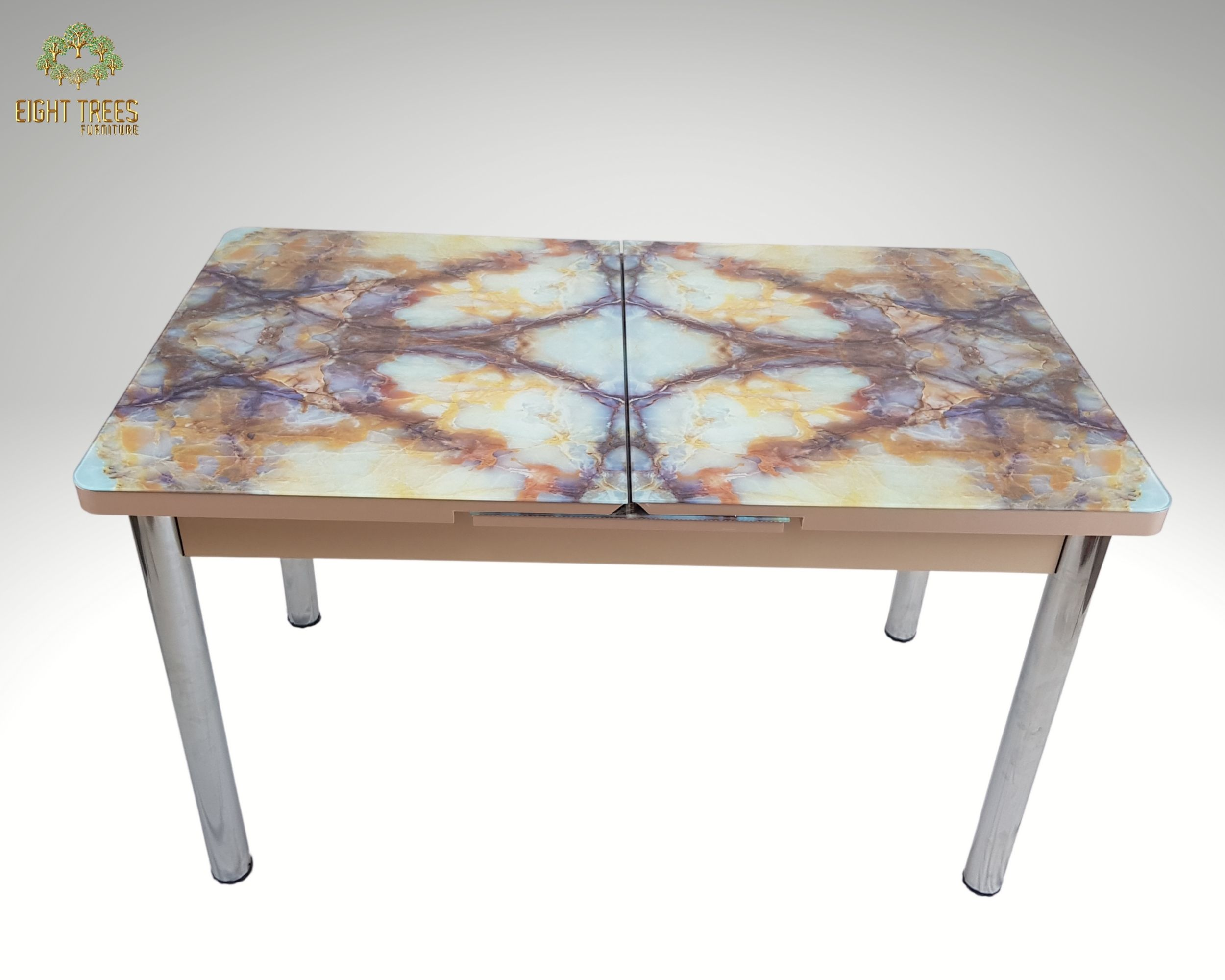 Extendable Yellow Dining Table