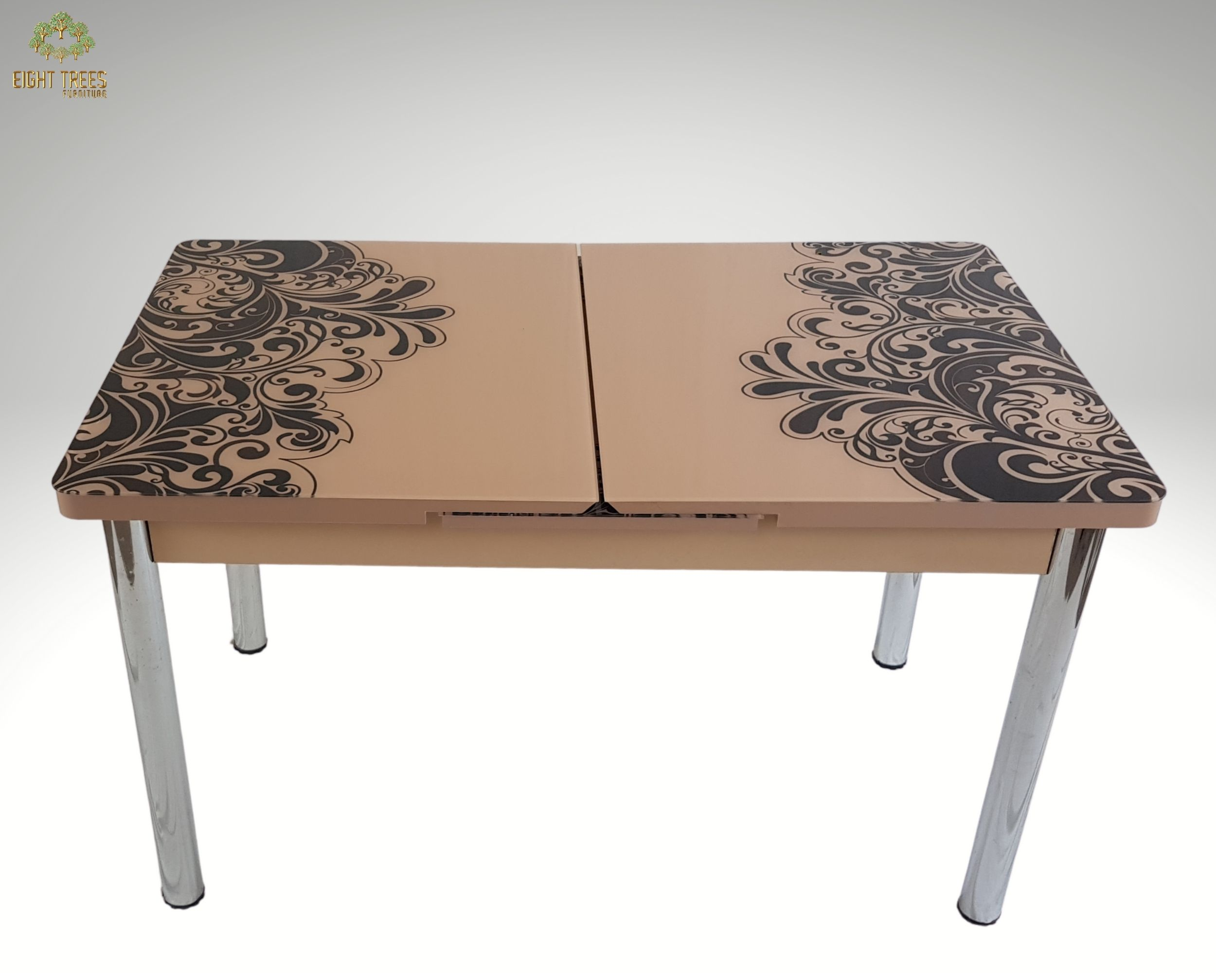 Extendable Brown Dining Table