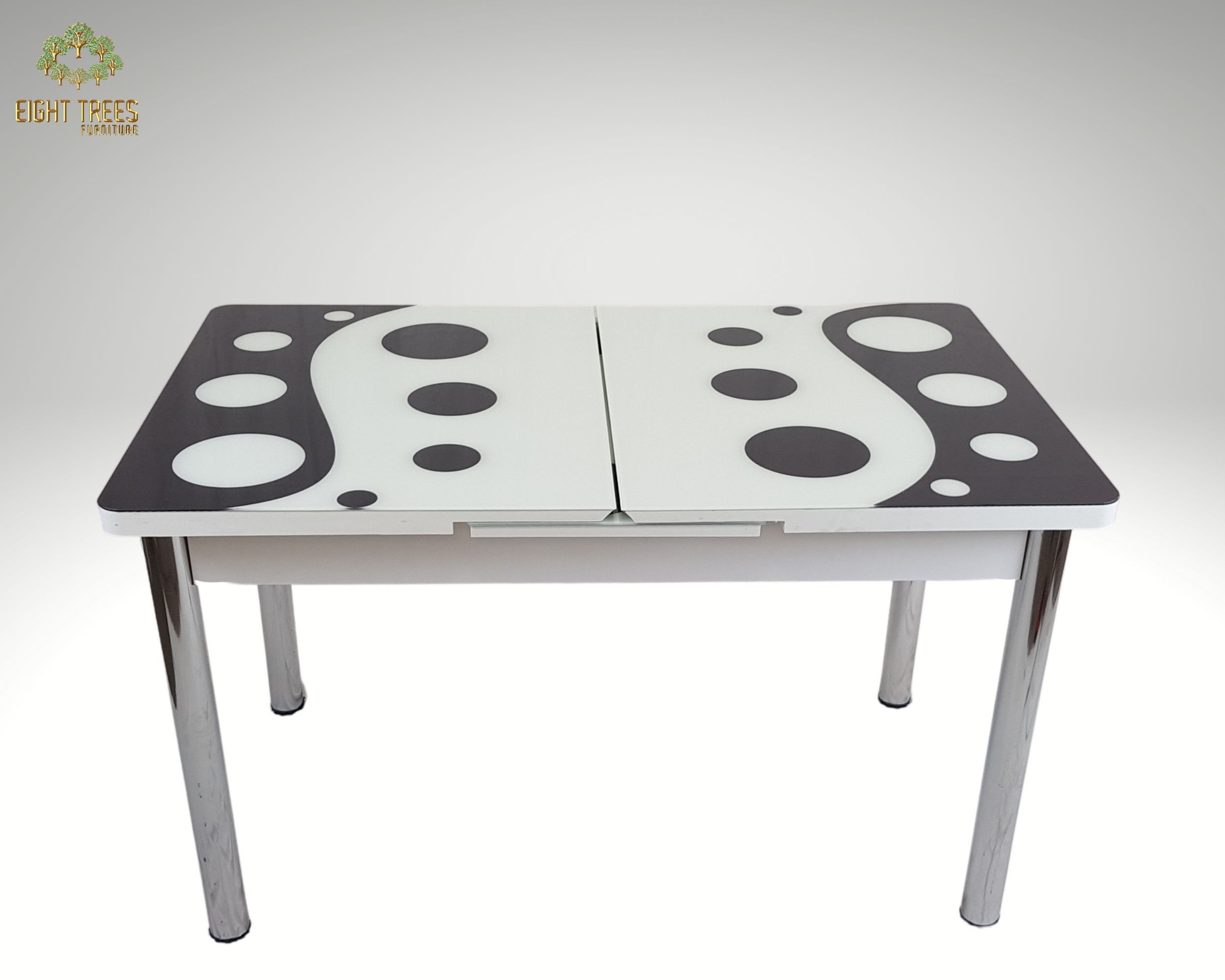 EXTENDABLE DINING TABLE (white and black)