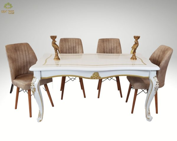 Goldking Dining Table Wood (white)