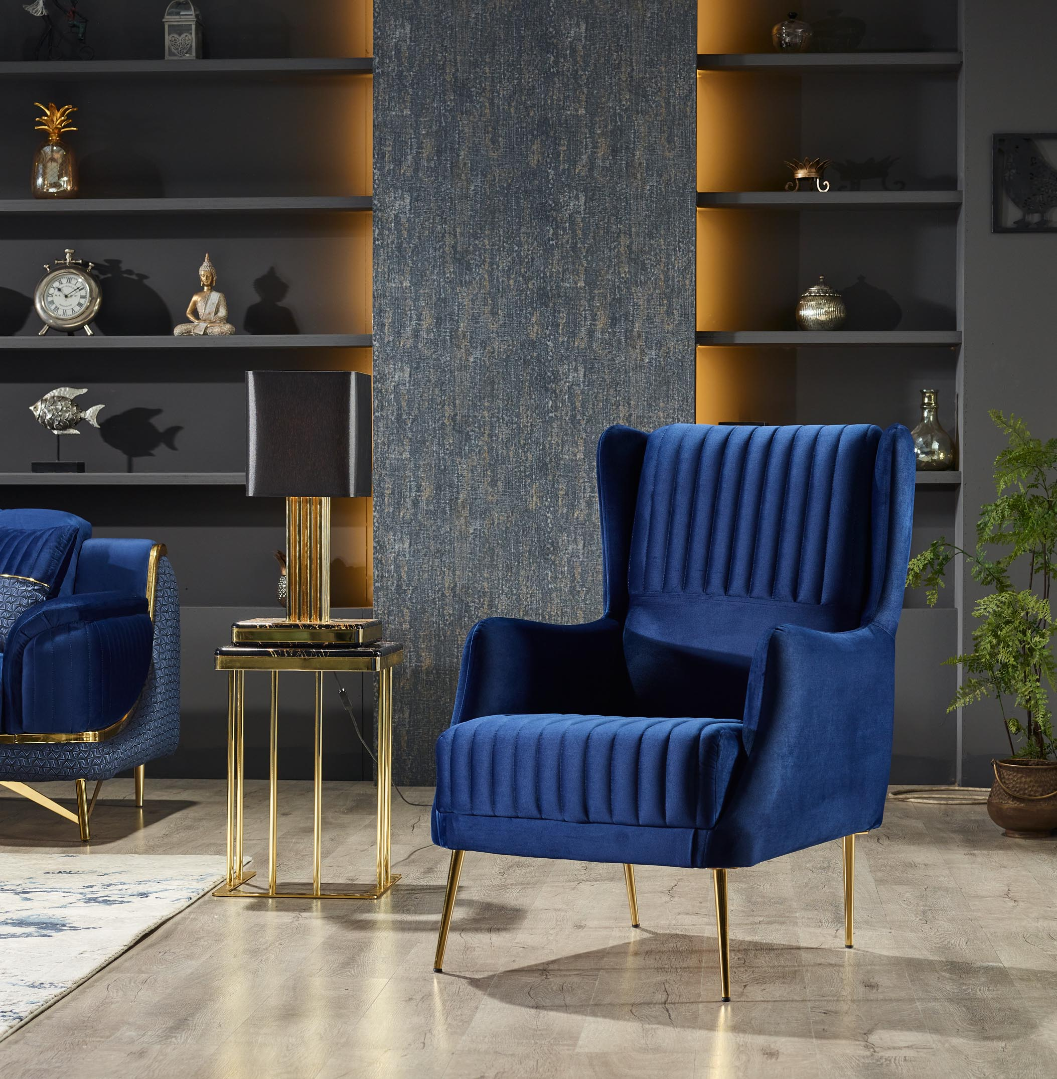 Bella Blue Armchair