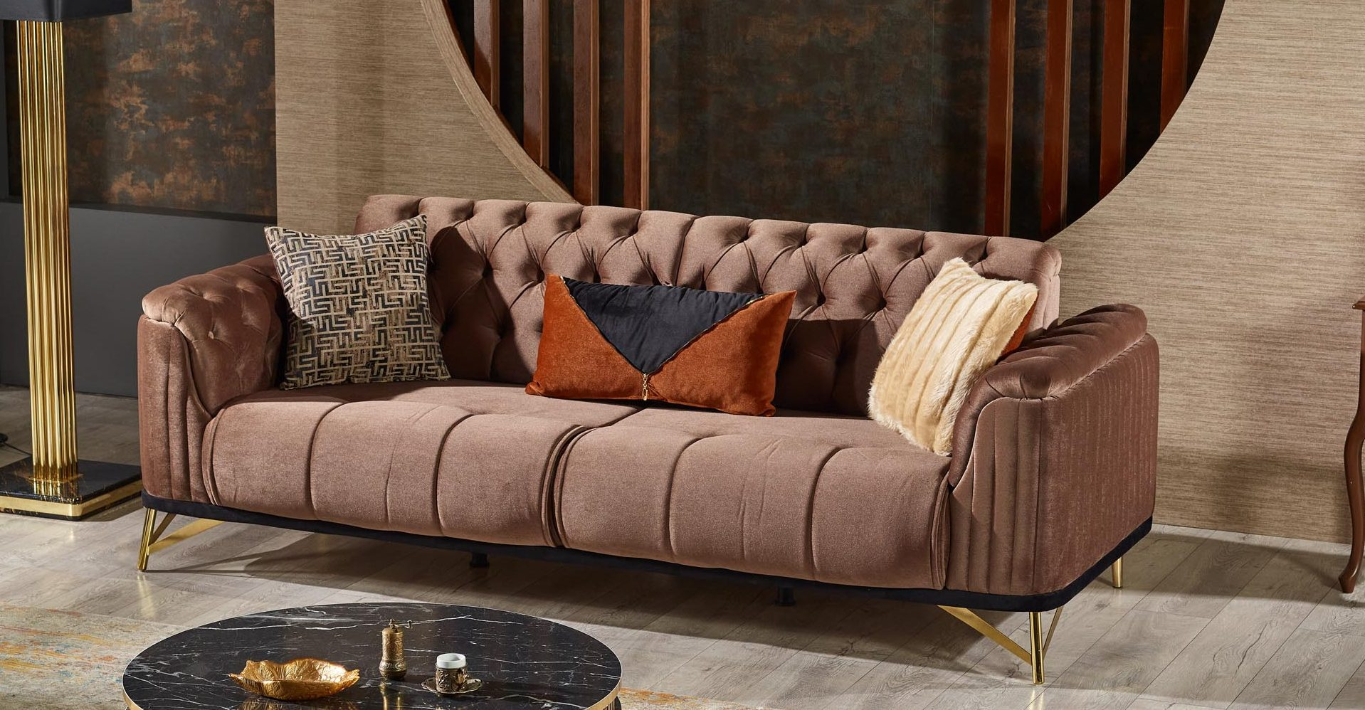 Maestro Brown 3-Seater Sofa (Extendable)