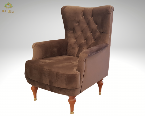 Gizem Brown Armchair