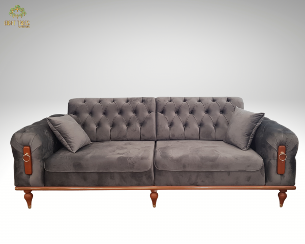 grey 3-Seater Sofa (Extendable)